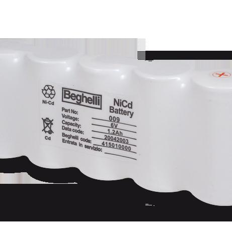 Batteria NiCdHT 6V 1.2Ah