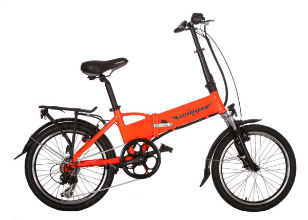 bici elettrica peler arancio